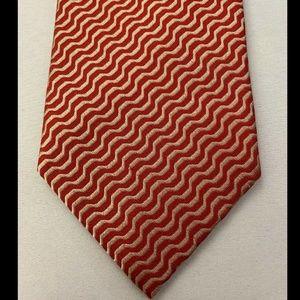 Armani Collezioni Men's Red Tie 100% Silk